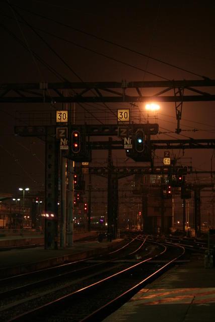 Extrémité des quais de la gare de Lyon